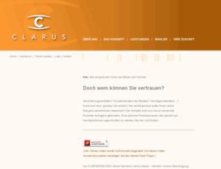 clarus-online.de screenshot