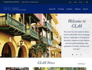 clas.georgetown.edu screenshot
