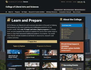 clas.ucdenver.edu screenshot