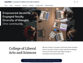 clas.uconn.edu screenshot
