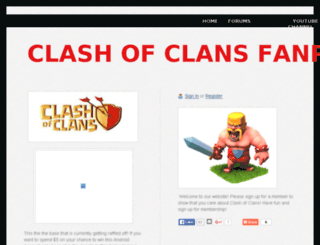 clashofclansfanpage.webs.com screenshot