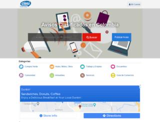 clasicolombia.com screenshot
