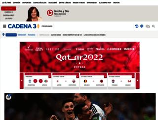 clasificados.cadena3.com screenshot