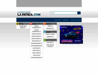 clasificados.lapatria.com screenshot