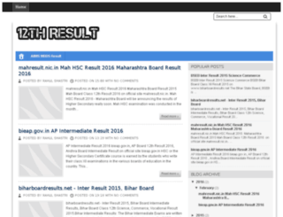 class12thresult.com screenshot