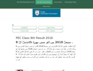 class8thresult.com screenshot