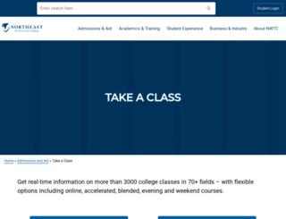 classcart.nwtc.edu screenshot