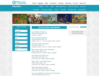 classes.artscouncilofprinceton.org screenshot