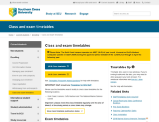 classes.scu.edu.au screenshot