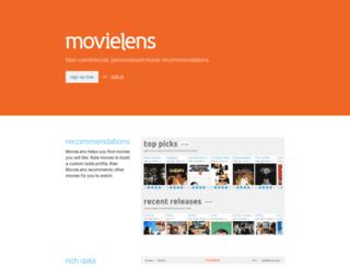 classic.movielens.org screenshot