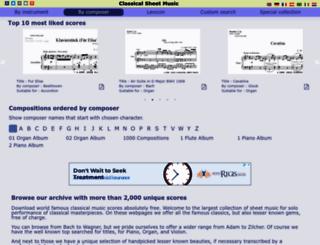 classical-sheet-music.eu screenshot