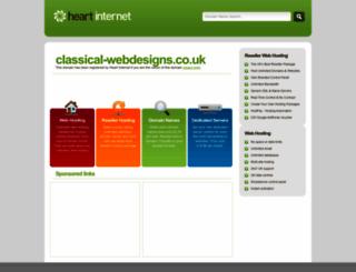 classical-webdesigns.co.uk screenshot