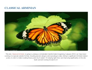 classicalarminian.blogspot.com screenshot
