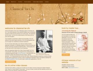 classicaltaichi.com screenshot