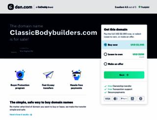 classicbodybuilders.com screenshot