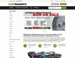 classicdiscountparts.com screenshot