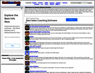 classicgamesarcade.com screenshot