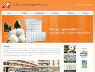 classicknits.co.in screenshot