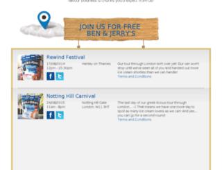 classics.benjerry.com screenshot