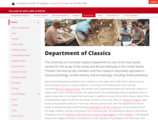 classics.uc.edu screenshot