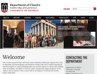 classics.uga.edu screenshot