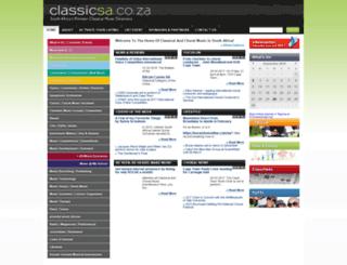 classicsa.co.za screenshot
