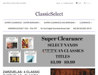 classicselect.com screenshot