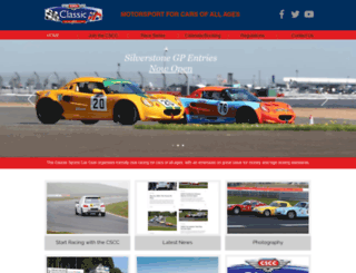 classicsportscarclub.co.uk screenshot