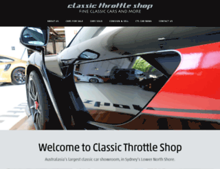 classicthrottleshop.com screenshot