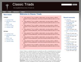 classictriads.com screenshot
