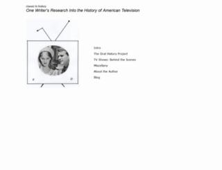 classictvhistory.com screenshot