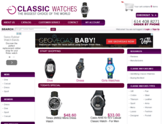 classicwatchesonline.com screenshot