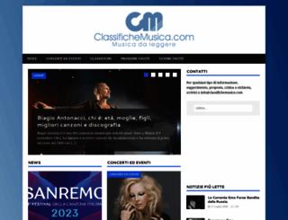 classifichemusica.com screenshot