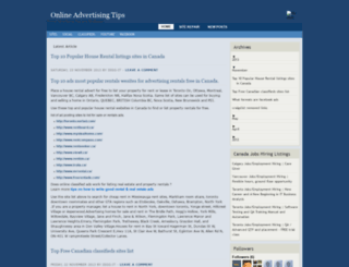 classified-advertising-sites.blogspot.in screenshot