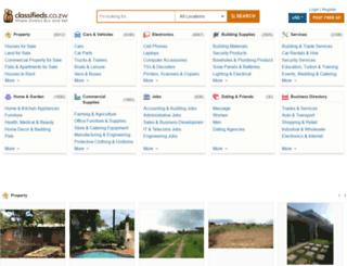 classified.co.zw screenshot