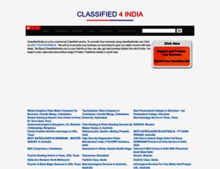 classified4india.com screenshot