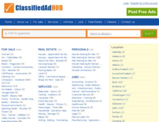 classifiedadhub.com screenshot