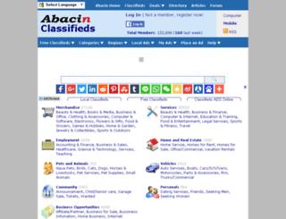 classifieds.abacin.com screenshot