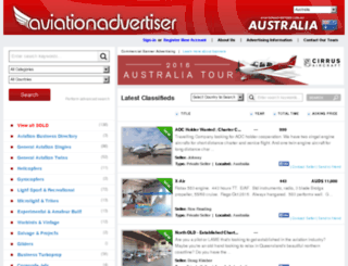 classifieds.aviationadvertiser.com.au screenshot