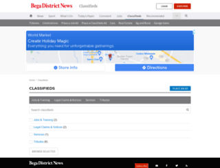 classifieds.begadistrictnews.com.au screenshot
