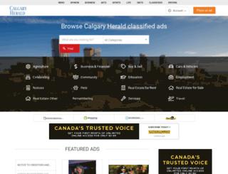 classifieds.calgaryherald.com screenshot