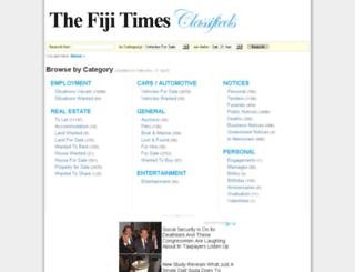 classifieds.fijitimes.com screenshot