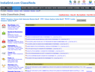 classifieds.indiagrid.com screenshot