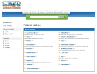 classifieds.inmadrid.com screenshot