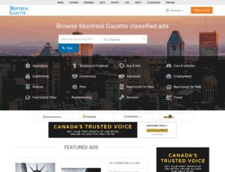 classifieds.montrealgazette.com screenshot