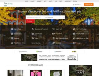 classifieds.vancouversun.com screenshot