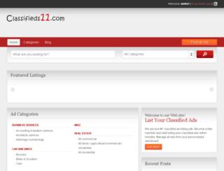 classifieds11.com screenshot
