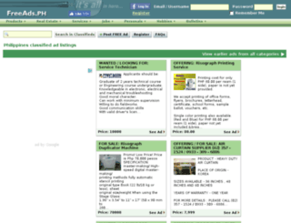classifiedsph.com screenshot