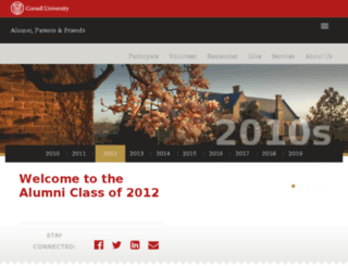 classof2012.cornell.edu screenshot