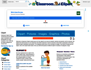 classroomclipart.com screenshot